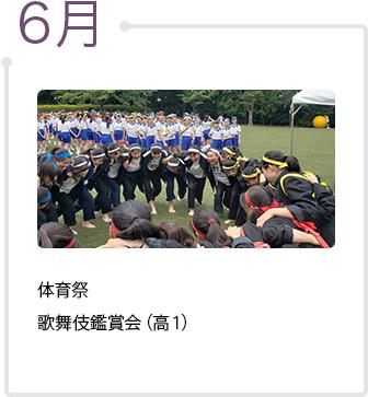 6月 体育祭、歌舞伎鑑賞会(高1)