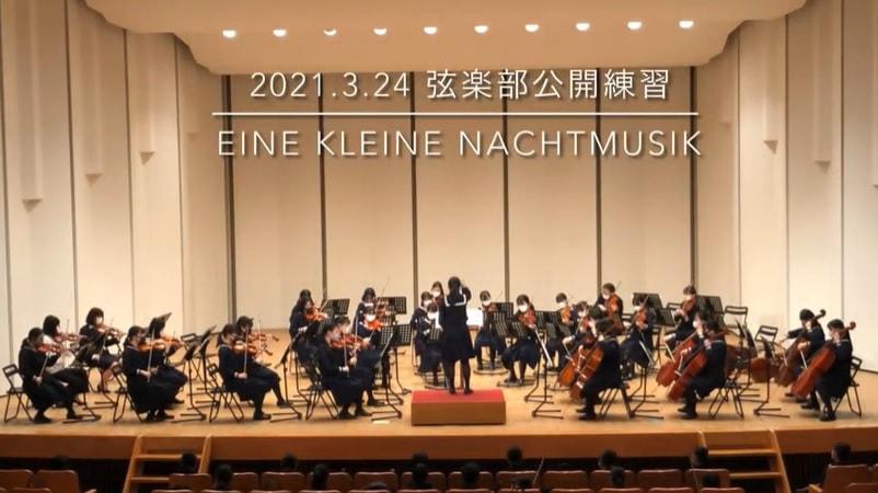 【弦楽部】公開練習&発表会(第13回定期演奏会の代替)を開催しました。
